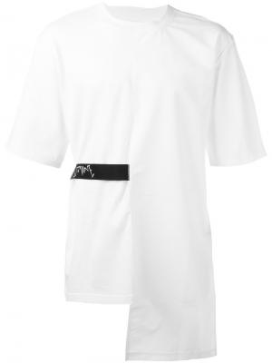 Back tape T-shirt D.Gnak. Цвет: белый