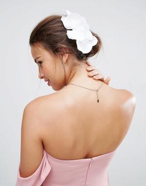 ASOS Украшение для волос с орхидеей. Цвет: белый