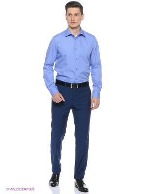 Рубашка Greg Horman. Цвет: голубой