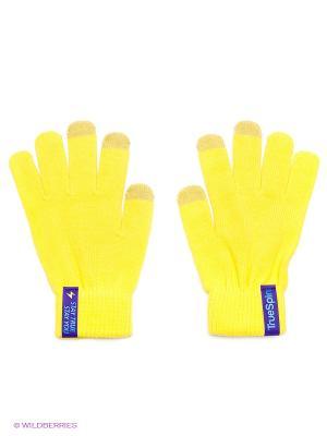 Перчатки TRUESPIN Touchgloves True Spin. Цвет: коричневый, желтый