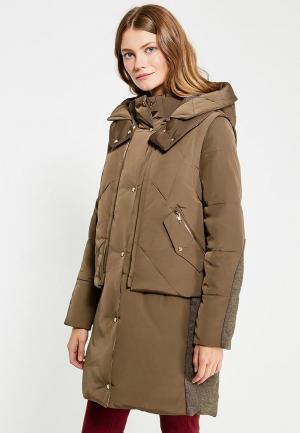 Комплект жилет и куртка H:Connect. Цвет: коричневый