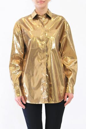 Блузон MSGM. Цвет: золотой