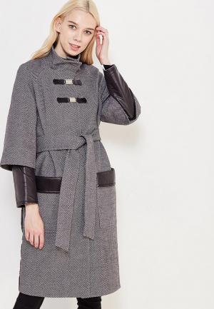 Пальто Grand Style. Цвет: черно-белый