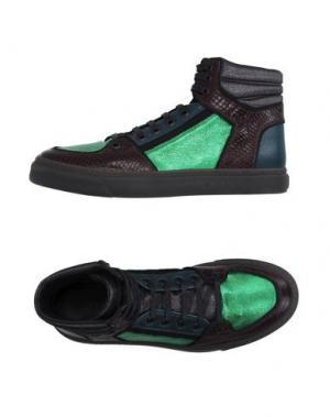 Высокие кеды и кроссовки MARC JACOBS. Цвет: темно-коричневый