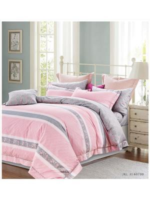 Комплект постельного белья ROMEO AND JULIET. Цвет: светло-серый, белый, розовый