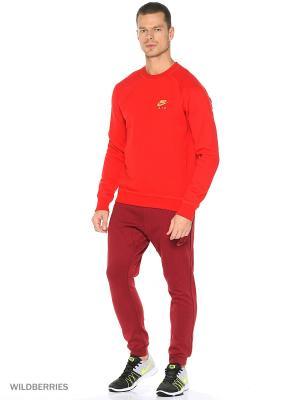 Брюки M NSW AV15 JGGR FLC Nike. Цвет: красный, серый