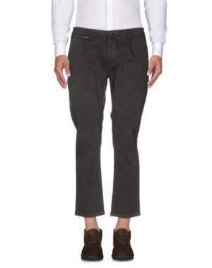 Повседневные брюки GREY DANIELE ALESSANDRINI. Цвет: темно-коричневый
