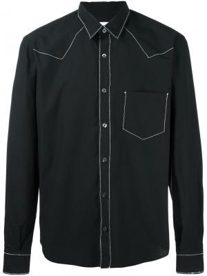 Рубашка Sheriff Jimi Roos. Цвет: чёрный