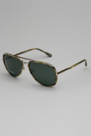 Очки солнцезащитные TRUSSARDI DAL 1911. Цвет: оливковый