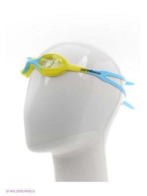 Очки для плавания EMDI. Цвет: светло-желтый