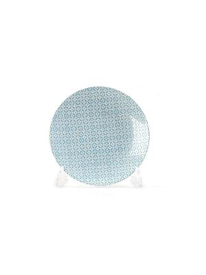 Тарелка 21 см TUNISIE PORCELAINE. Цвет: голубой