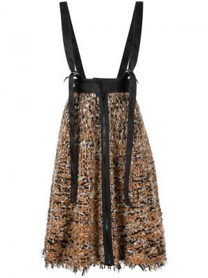 Трикотажная юбка с подтяжками Lalo. Цвет: телесный