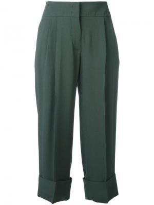 Cropped trousers Antonio Marras. Цвет: зелёный