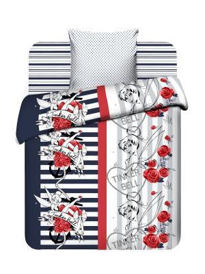 Комплект постельного белья Дисней Василек. Цвет: красный, синий, серый