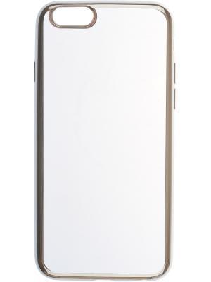 Apple iPhone 6 silicone chrome border 4People skinBOX. Цвет: серебристый