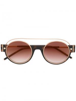 Солнцезащитные очки в круглой оправе Marc Jacobs Eyewear. Цвет: коричневый