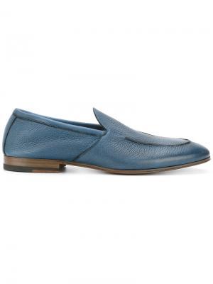 Лоферы с миндалевидным носком Henderson Baracco. Цвет: синий