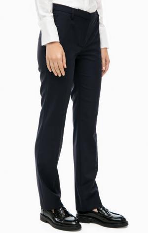 Синие брюки из костюмной ткани Cinque. Цвет: синий