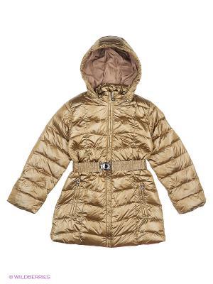 Куртка Finn Flare. Цвет: золотистый