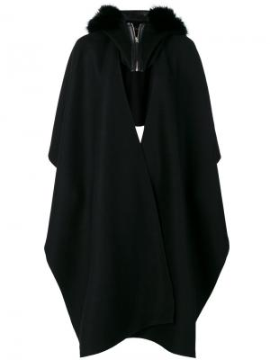 Пальто-кейп с капюшоном Mackage. Цвет: чёрный