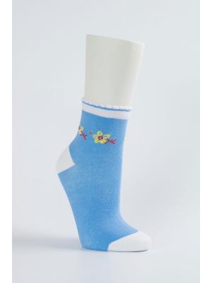 Носки женские, 2 пары NAGOTEX. Цвет: голубой, белый