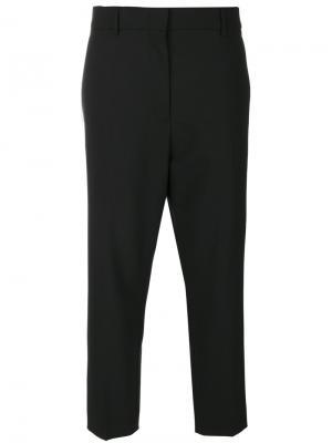 Укороченные прямые брюки Jil Sander. Цвет: чёрный