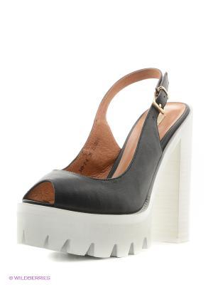 Босоножки на каблуке El Tempo. Цвет: черный