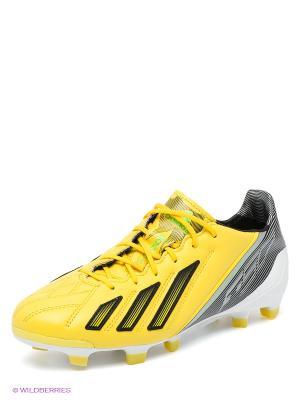 Бутсы F50 Adidas. Цвет: желтый, черный