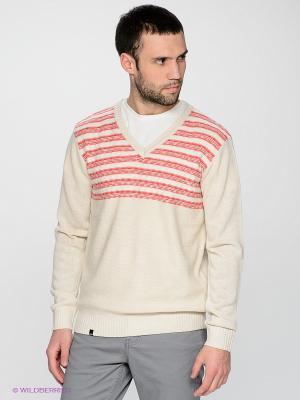 Пуловер Befree. Цвет: светло-бежевый, красный