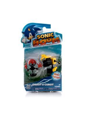 Игрушка Sonic 2 фигурки в блистере, 7,5 см Кубор и Орбот Boom. Цвет: черный