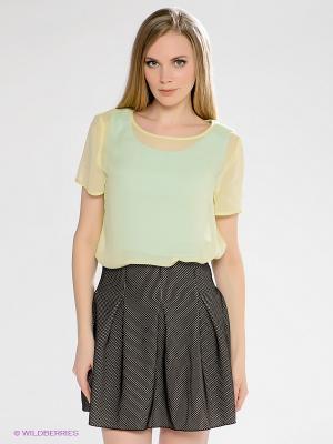 Блузка INCITY. Цвет: светло-желтый