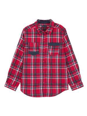 Рубашка Endo. Цвет: красный