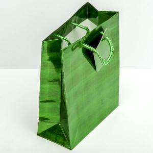 Подарочный пакет арт. УП-104 Бусики-Колечки. Цвет: зеленый