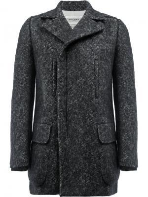 Однобортное пальто Rochas. Цвет: серый