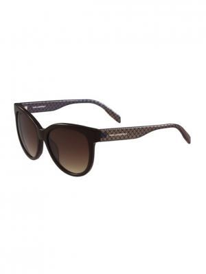 Очки солнцезащитные KL 907S 020 Karl Lagerfeld. Цвет: коричневый,синий