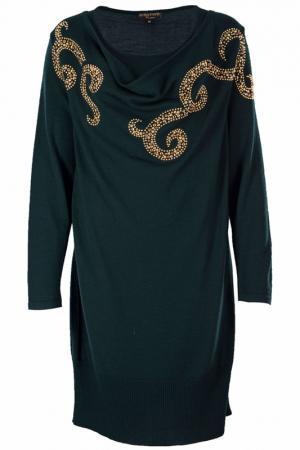 Платье Elisa Fanti. Цвет: темно-зеленый