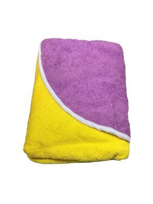 Полотенце-уголок Baby Swimmer. Цвет: желтый