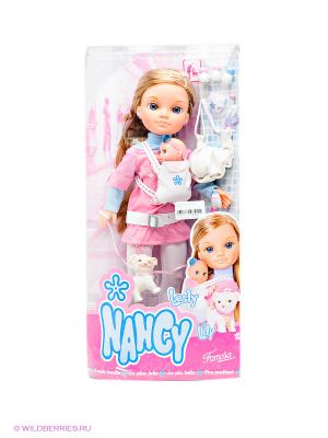 Кукла Нэнси с любимой сестренкой Famosa. Цвет: розовый
