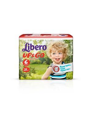 Libero Трусы детские одноразовые Up&Go экстра лардж 13-20кг 28шт упаковка экономичная Коллекция. Цвет: зеленый