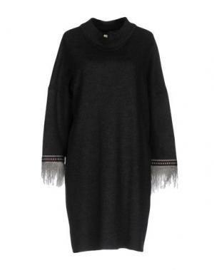 Короткое платье LA FABRIQUE. Цвет: стальной серый