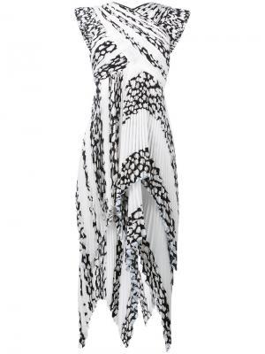 Leopard print pleated dress Proenza Schouler. Цвет: чёрный