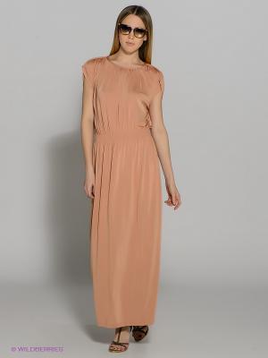 Платье SELECTED. Цвет: бежевый