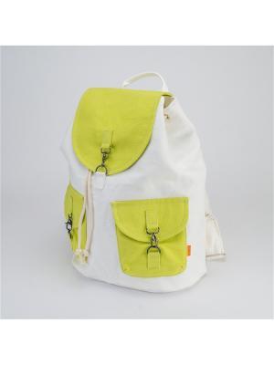 Городской рюкзак TIMBAG. Цвет: салатовый, белый, красный