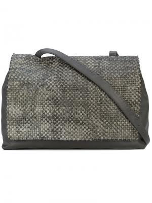 Structured square tote bag Henry Beguelin. Цвет: серый