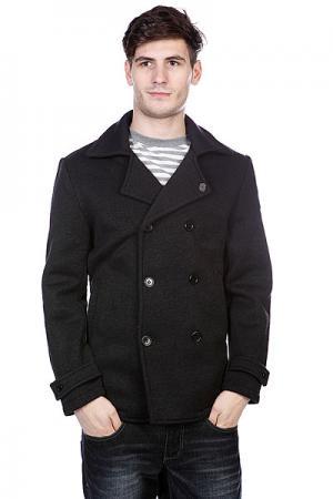 Пальто  Peacock Pea Coat Black Heather Enjoi. Цвет: черный