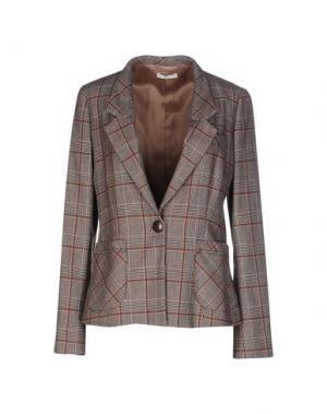 Пиджак E-GÓ. Цвет: темно-коричневый