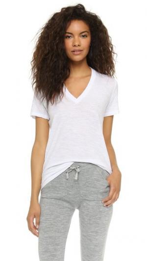 Свободная футболка MONROW. Цвет: белый