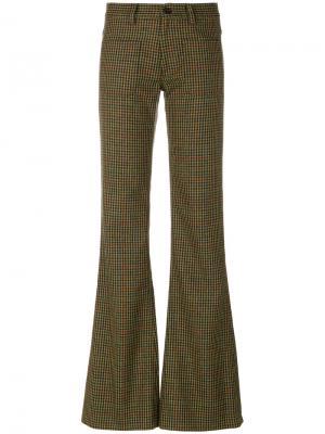 Твидовые расклешенные брюки Maison Margiela. Цвет: многоцветный