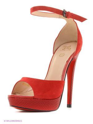Босоножки Moda Donna. Цвет: красный