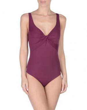 Слитный купальник S AND. Цвет: пурпурный